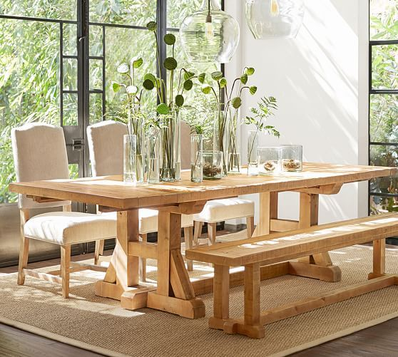 Stafford Reclaimed Pine Extending Dining Table  Pottery Barn Adorable Dining Room Pottery Barn Inspiration