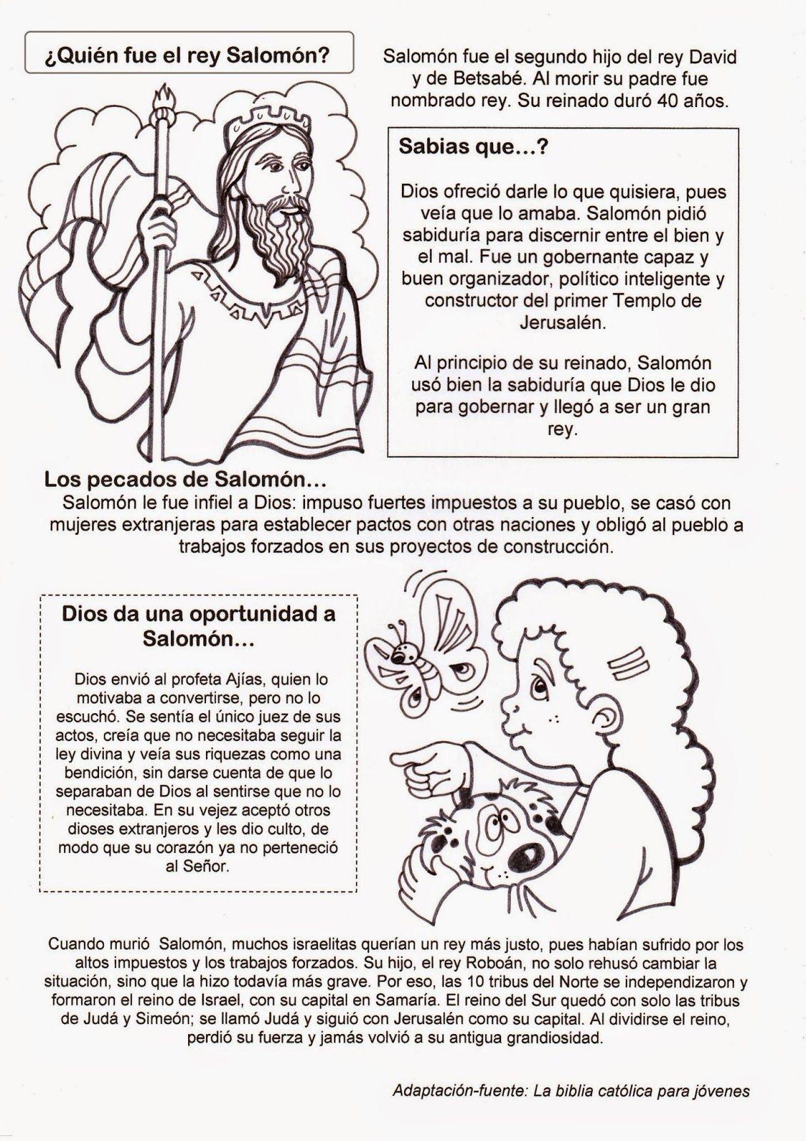 El Rincon De Las Melli Quien Fue El Rey Salomon Biblia Para Ninos Escuela Dominical Para Ninos Lecciones Para Ninos En La Iglesia