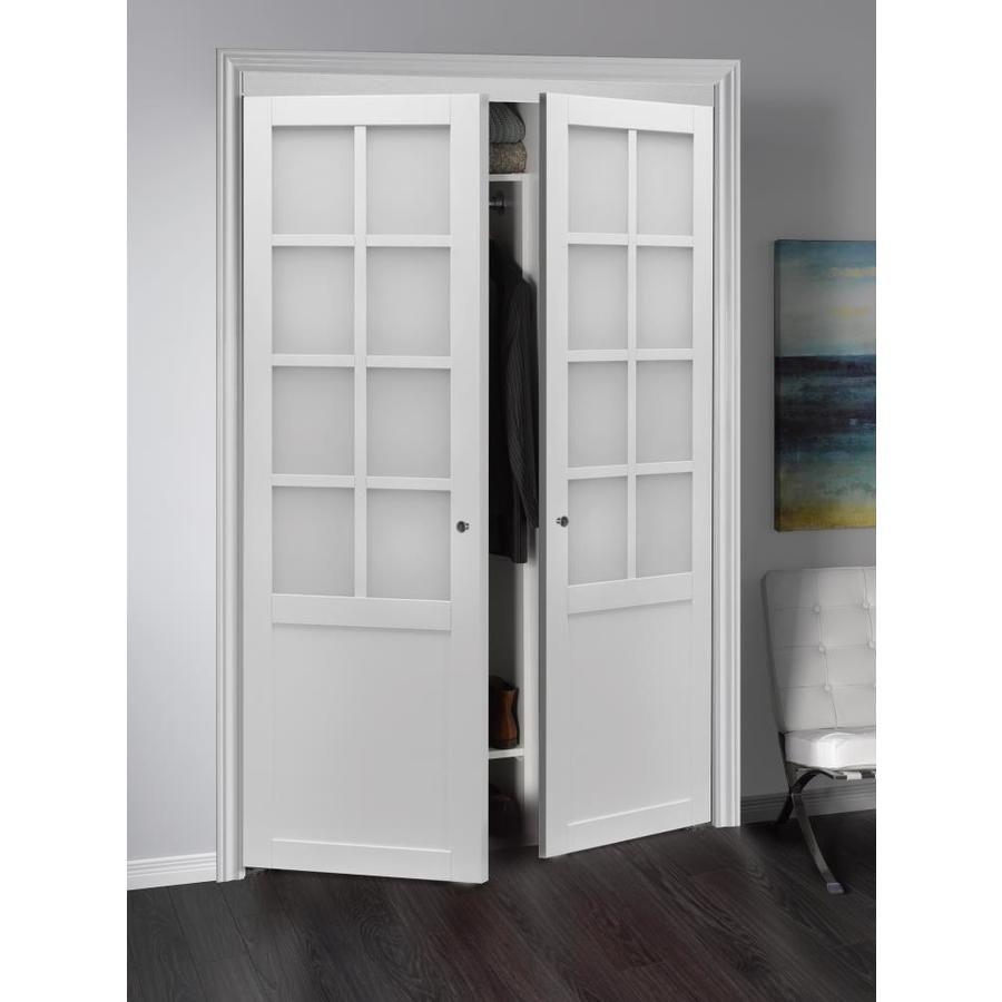 Reliabilt 48 In X 80 In White Flush Prefinished Mdf Pivot Door Hardware Included Lowes Com Pivot Doors Sliding Closet Doors Bifold Doors