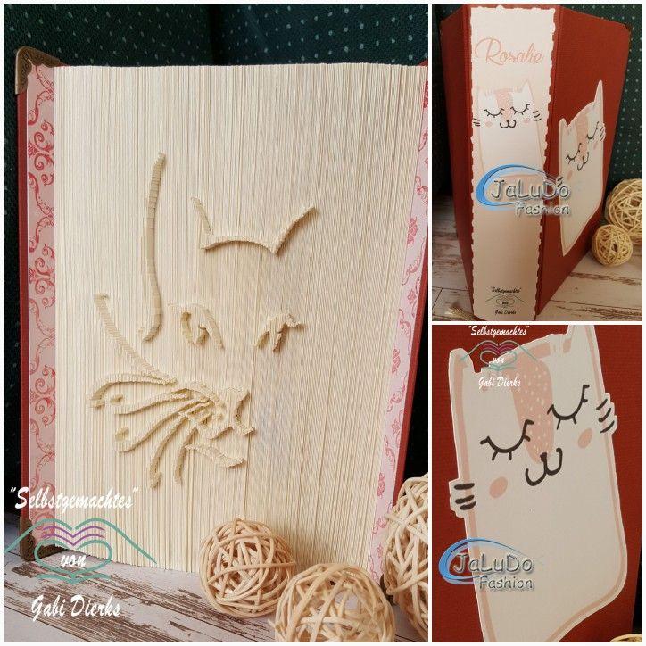 Ein Katzenbuch (gefaltet nach Orimoto/Kirimoto-Art, Vorlage erstellt ...