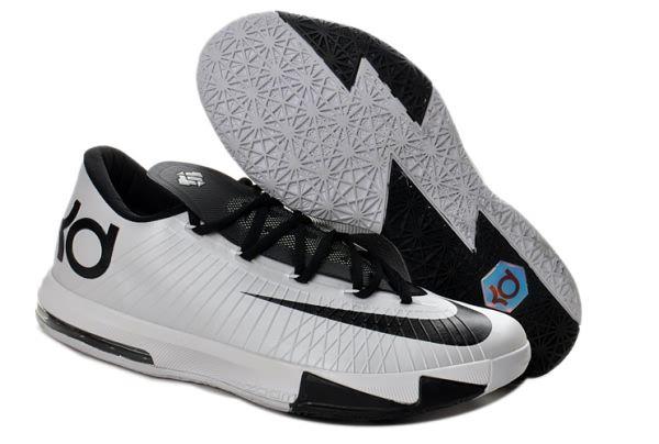 Nike Zoom Kevin Durant\u0027s KD VI Low Basketball shoes White/Black