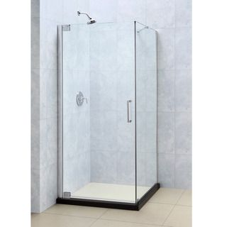 DreamLine Elegance 34 in by 30 in Frameless Pivot Shower