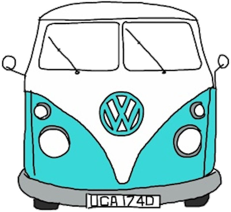Hippie Van Sticker by charlo19  Vans Pouches and Tote bag