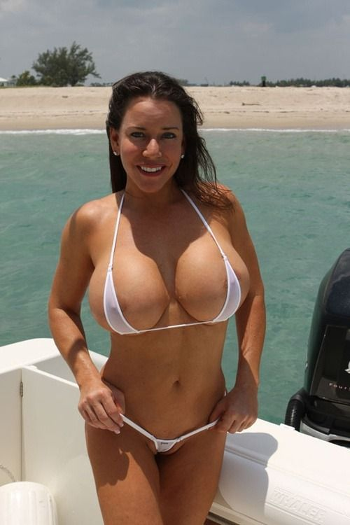Oversized boobs in bikini