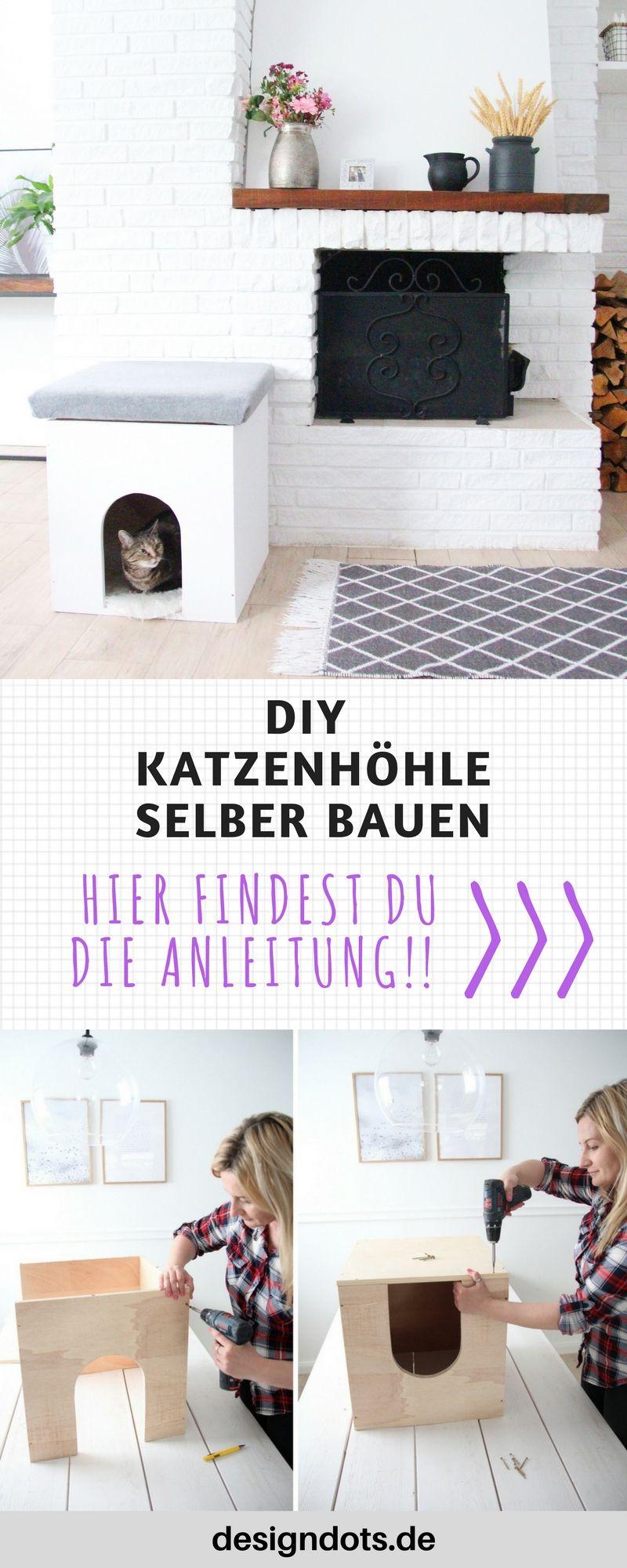 gemütliche katzenhöhle selbst bauen | design dots blog und zuhause