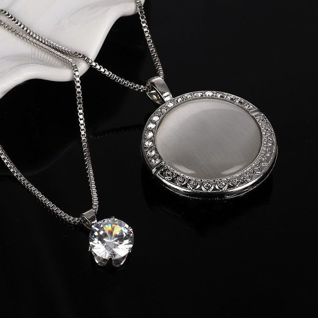 Zoshi vintage long silver color statement round eye cat necklaces zoshi vintage long silver color statement round eye cat necklaces pendants multi layer jewelry aloadofball Gallery