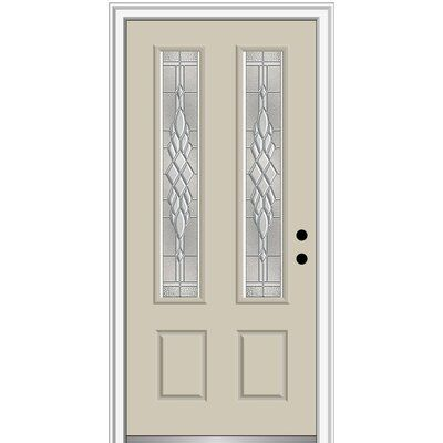 Verona Home Design Grace Different 2 3 4 Lite 2 Panel Fiberglass Prehung Front Entry Door On 4 9 16 Front Entry Doors Single Entry Doors Aluminum Screen Doors