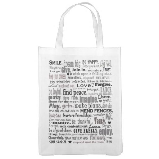 Inspirational words tote Words, Grocery bags and Reusable - grocery words