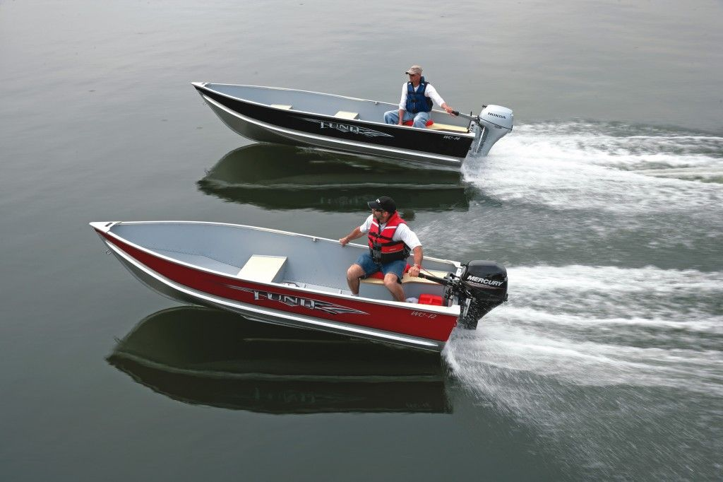 Lund boats wc 12 14 and 16 aluminum fishing boats for Aluminum fishing boats