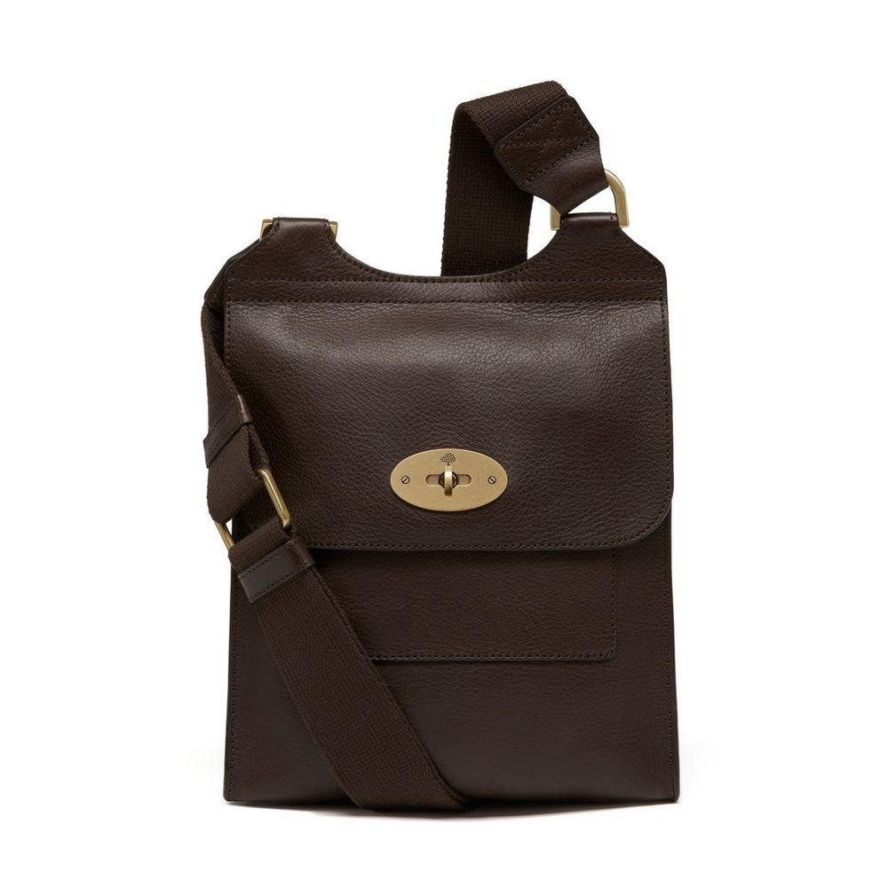 e84b40d86dd7 Shop the Antony in Chocolate Natural Leather at Mulberry.com. A classic  Mulberry satchel