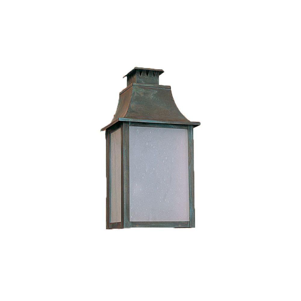 2-Light 13.75 in. Outdoor Matte Bronze Lantern
