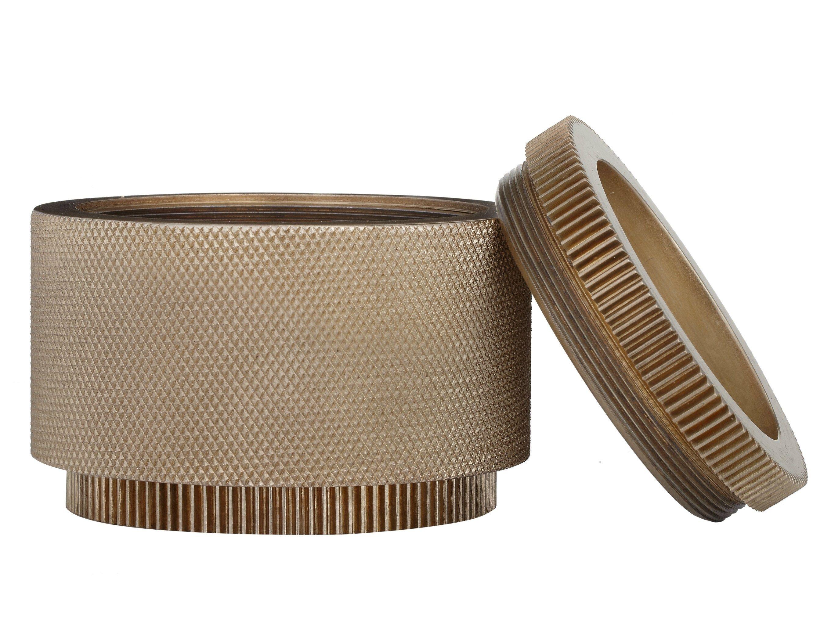 Portagioie in metallo COG CONTAINER LARGE Collezione Cog by Tom Dixon | design Tom Dixon