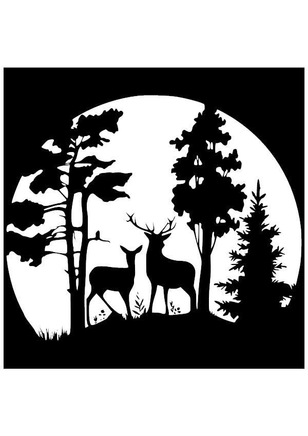 Deer moonrise vinyl decal