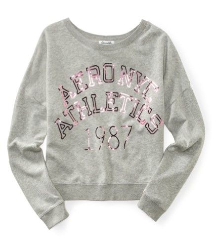 Aeropostale Womens Ny Athletic Pullover Sweatshirt 052 S, Women's, Size: Small, Grey