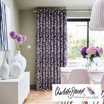 Purple-curtain---dining-room---grapeflower-berry Decor Pinterest