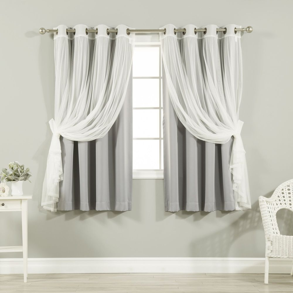 Schlafzimmer Gardinen Set Grey Mix Match Tulle Sheer Lace Blackout Curtain Set Antique