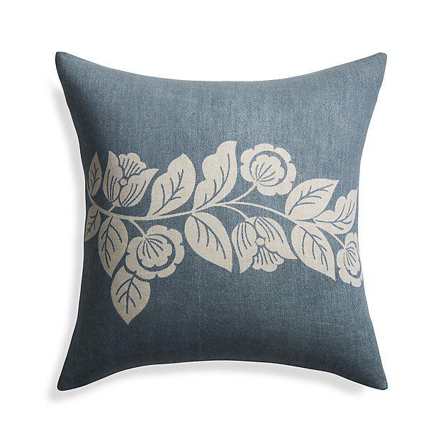 Talulah Blue Pillow   Crate and Barrel