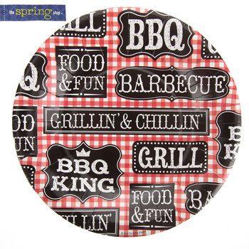 Small Gingham BBQ Paper Plates  sc 1 st  Pinterest & Small Gingham BBQ Paper Plates | baby q | Pinterest | Bbq plates