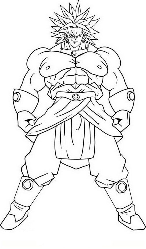 Dragon Ball Z Ausmalbilder. Malvorlagen Zeichnung druckbare nº 78 ...