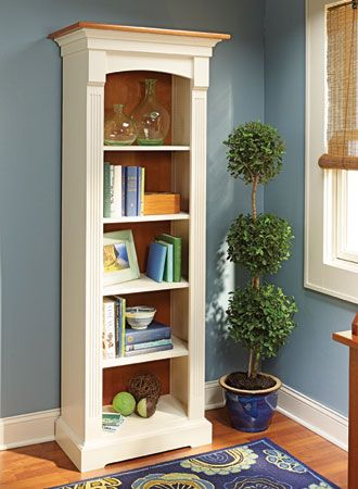 Tower Bookcase Woodsmith Plans Featuring A Classic Look With