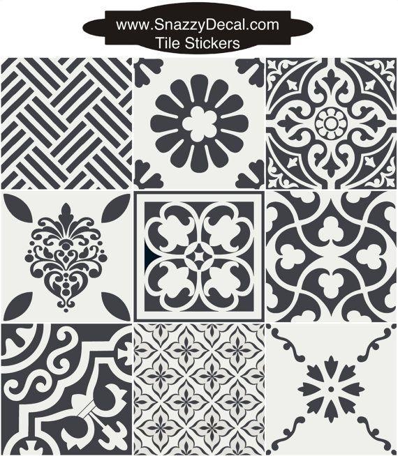 Tile decals tiles for kitchen bathroom back splash floor - Fliesen abschlagen wand glatten ...