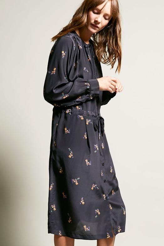 No 6 Sophie Drawstring Dress In Black Country Floral Dresses Country Dresses Drawstring Dresses
