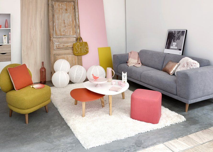 Canape Oslo But Pink Living Room Decor Home Living Room