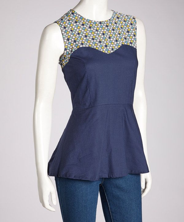 Take a look at this Blue Singapore Sweetheart Top on zulily today!