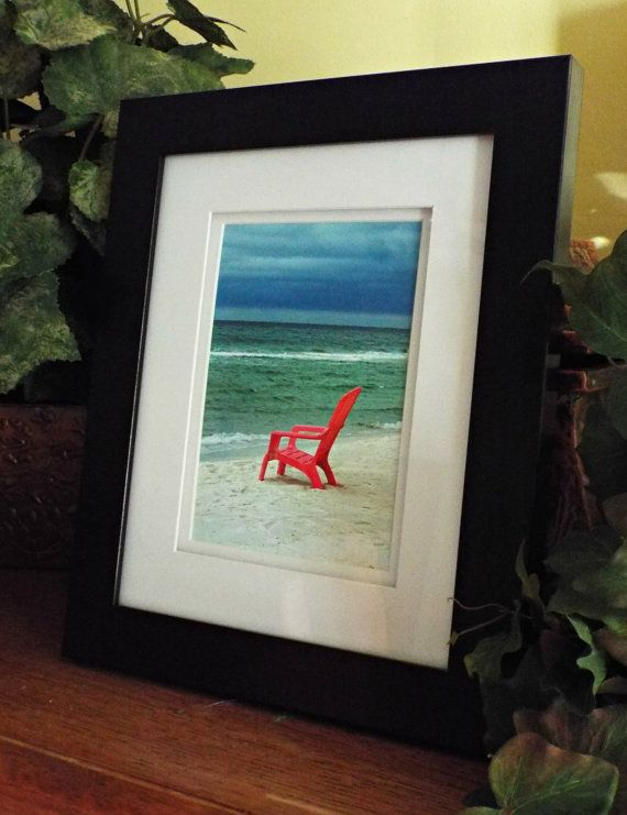 Upcycled Distress Wooden Frame 14 X17 Beach Photo Coastal Decor