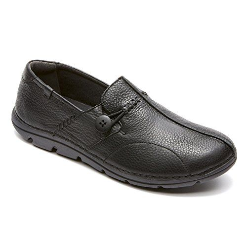 Rockport Womens A12721 RSL Constine Loafers Shoe Black Tumbled 65M --  Additional details at the