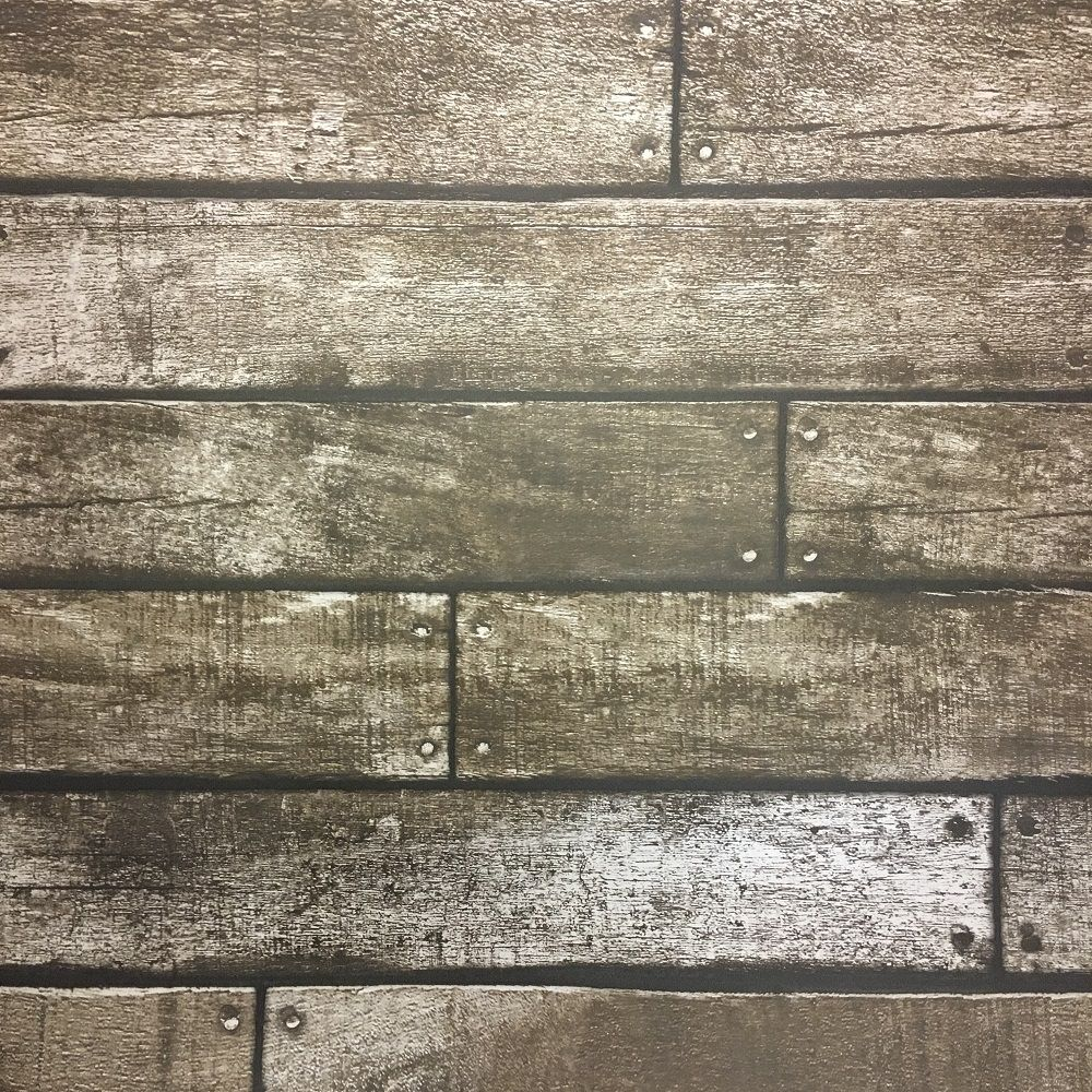 Fine Decor Wooden Plank Wallpaper With