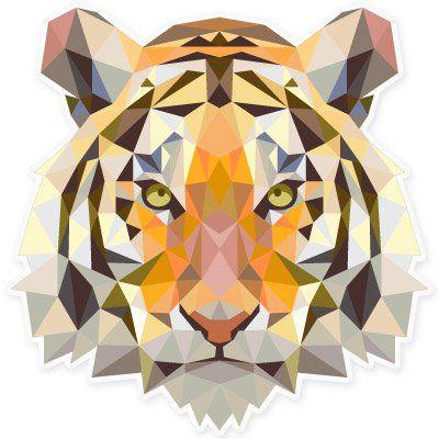 Amazon.com: Tiger Modern Art Design Vinyl Sticker - Car Window Bumper Laptop - SELECT SIZE: Home & Kitchen