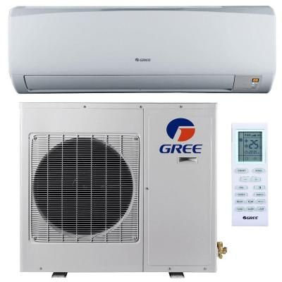 Gree High Efficiency 12 000 Btu 1 Ton Ductless Mini Split Air Conditioner With Heat Inverter And Remote 208 230v 60hz With Images Ductless Mini Split