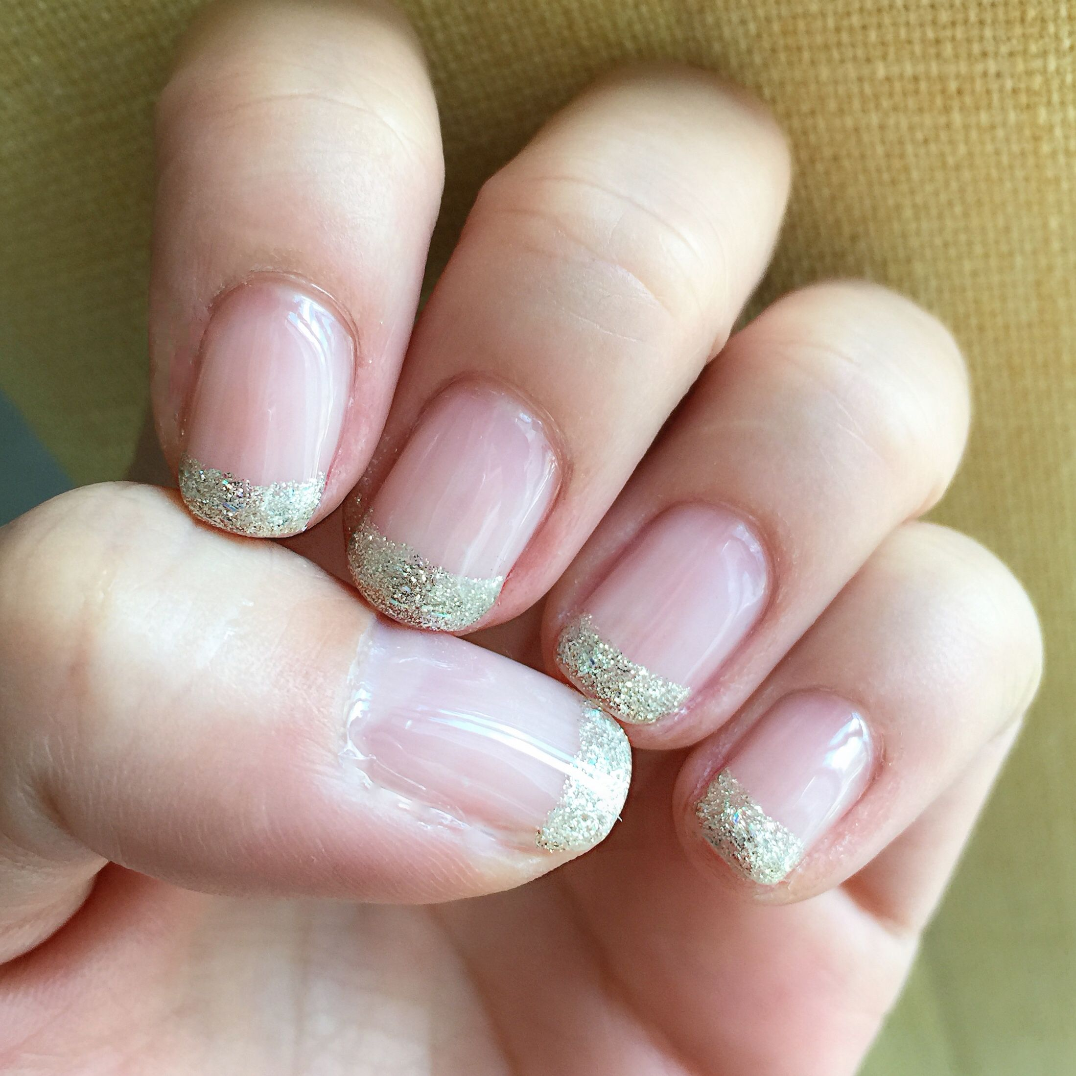 Bling French style | On Yung \'s Nails | Pinterest