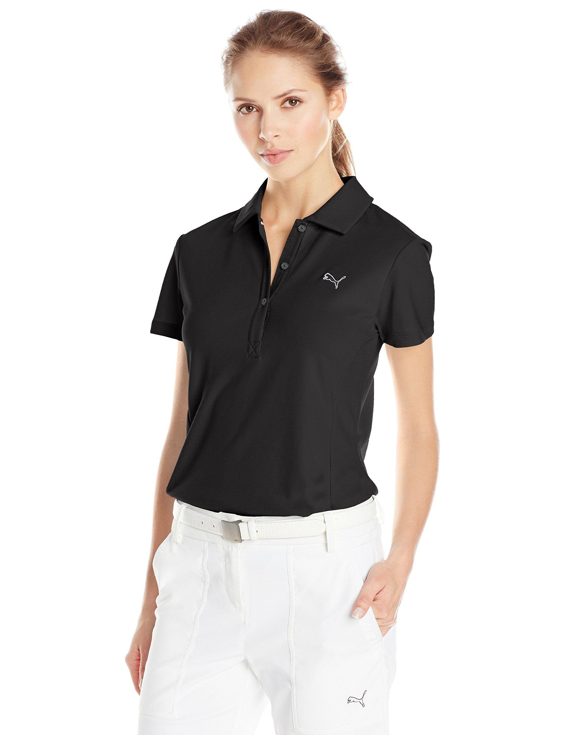 adc4eed2 Women Golf Clothing - PUMA Golf Womens Tech Polo Black XSmall | golf ...