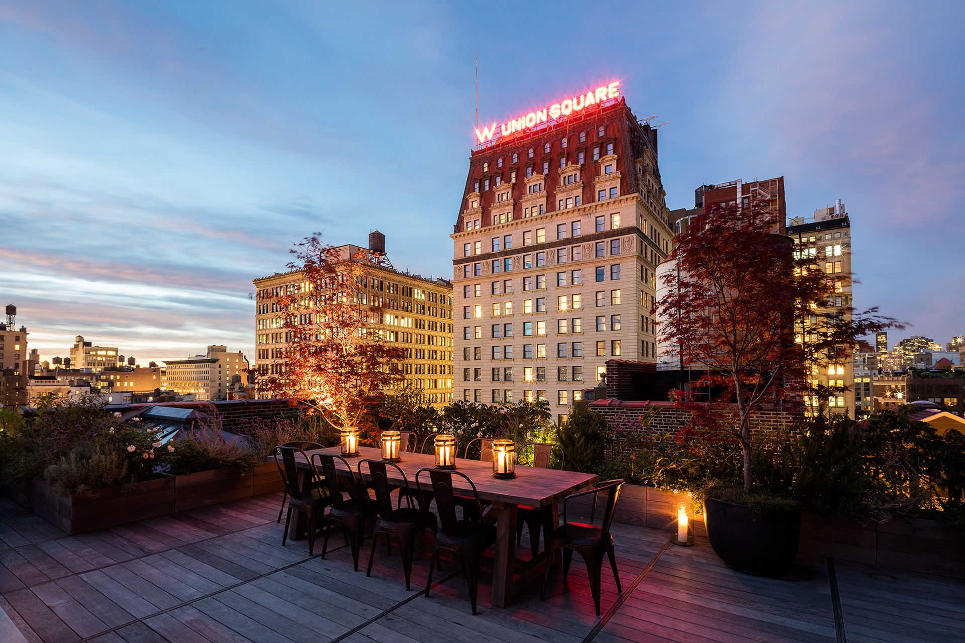 Union Square City Terrace Nyc Roof Garden Design Harrison Green