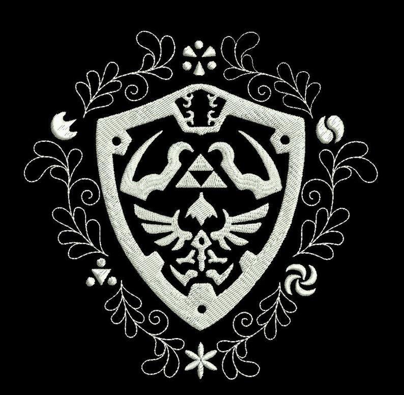 Legend of Zelda Hylian Shield Machine Embroidery design