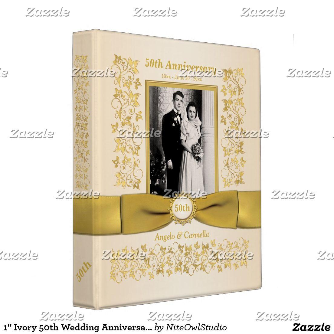 Golden anniversary wedding photo album