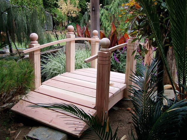 handcrafted wooden arch bridges and japanese water garden bridges - Japanese Wooden Garden Bridge