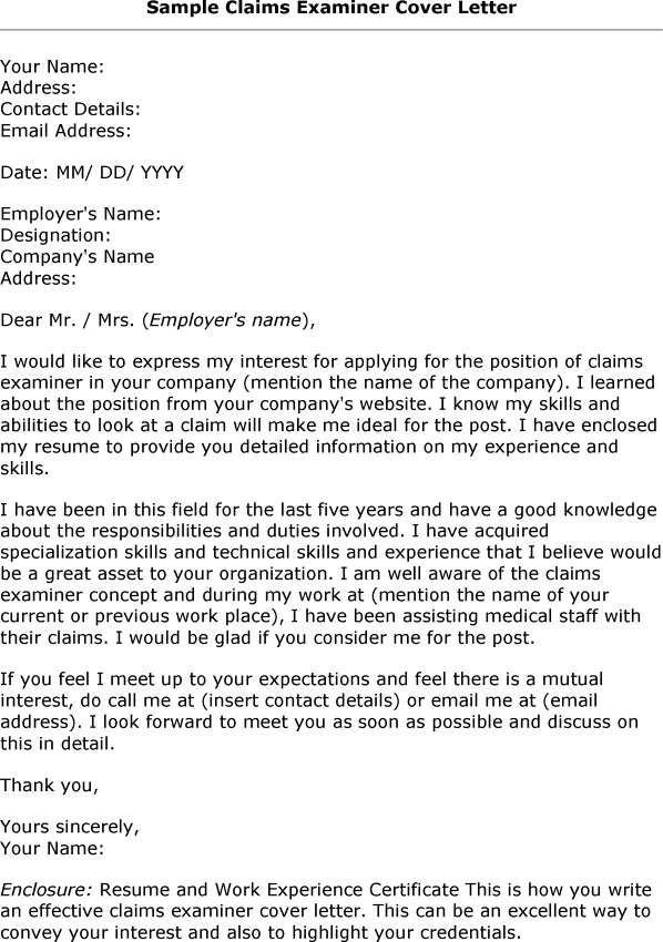cover letter for graduate jobs sample apptiled com unique app - claims examiner resume