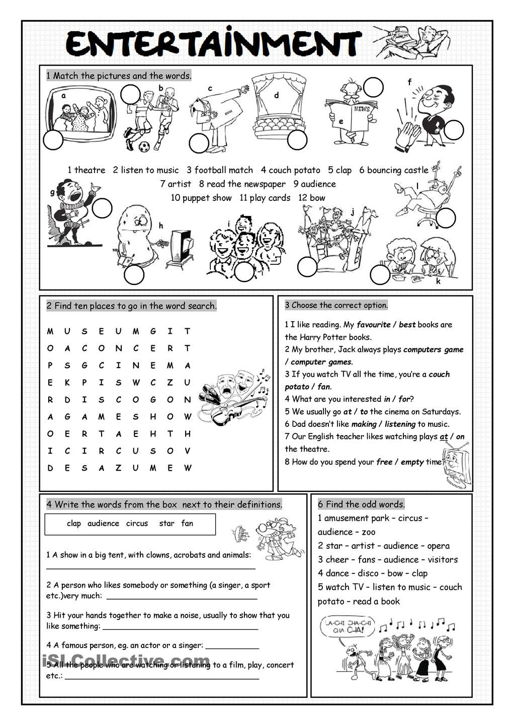 worksheet Vocabulary Builder Worksheets kids pages illnesses matching bw vocabulary pinterest kid the third part of entertainment set with five exercises wordsearch worksheet on practisingreinforcing enterta