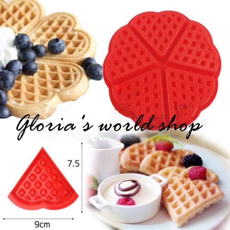 Molde de silicona para 5 waffles coraz n horno y microondas implementos de cocina - Silicona para microondas ...