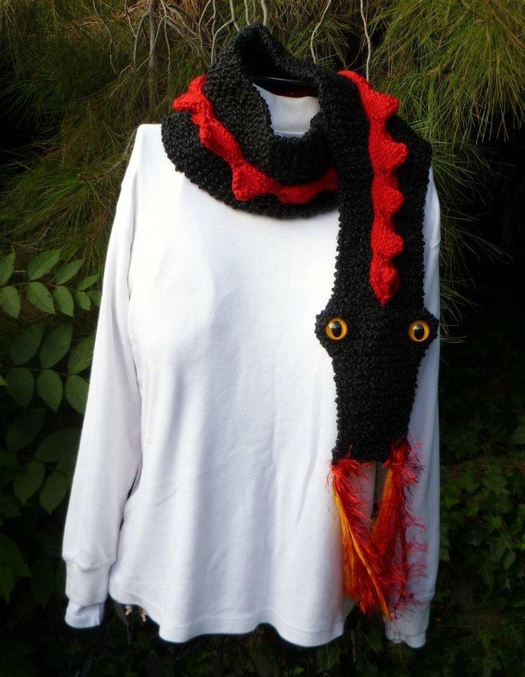 Puff the Magic Dragon? Knit Dragon Scarf (looks fun :-) | tejiendo ...