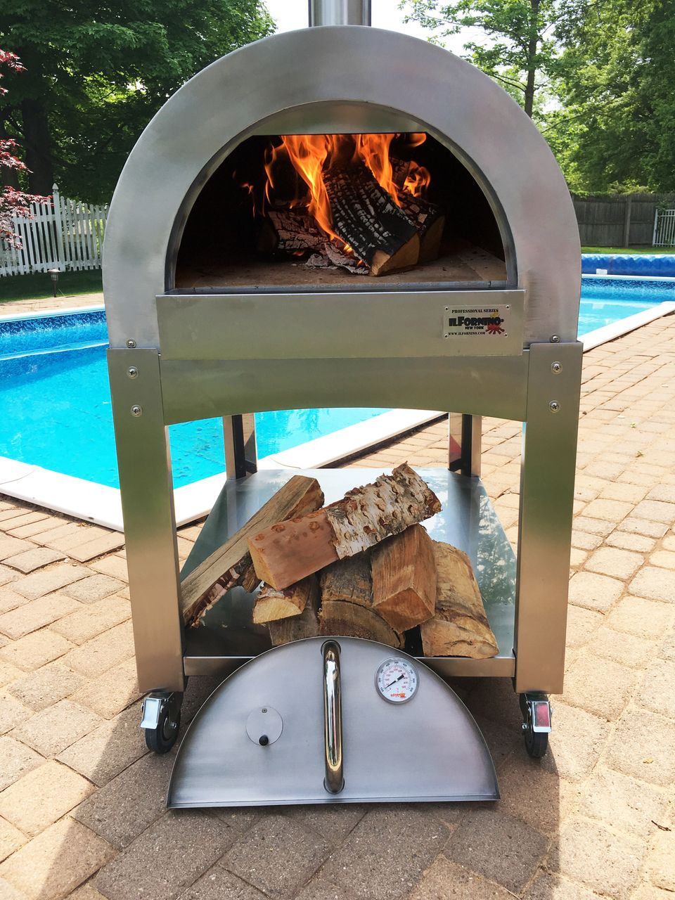Ilfornino Professional Series Wood Burning Pizza Oven One Flat Cooking Surface Portable Pizza Oven Wood Burning Pizza Oven Wood Fired Pizza Oven