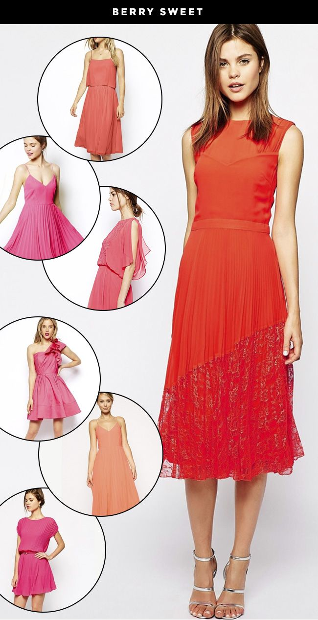Bright pink dress for wedding guest  Styling Your Bridal Party for Fall with ASOS  Wedding Style