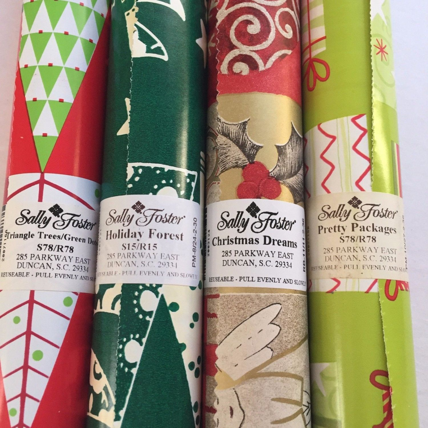 Ordinary Sally Foster Gift Wrap Part - 1: Sally Foster Gift Wrap Christmas Angels Presents Wrapping Paper Lot Of 4  Rolls For Crafts,