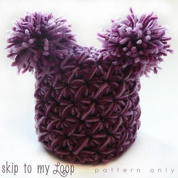 Pom Pom Baby Hat - Crochet Pattern - Jester Hat - Crochet Pom Pom ...