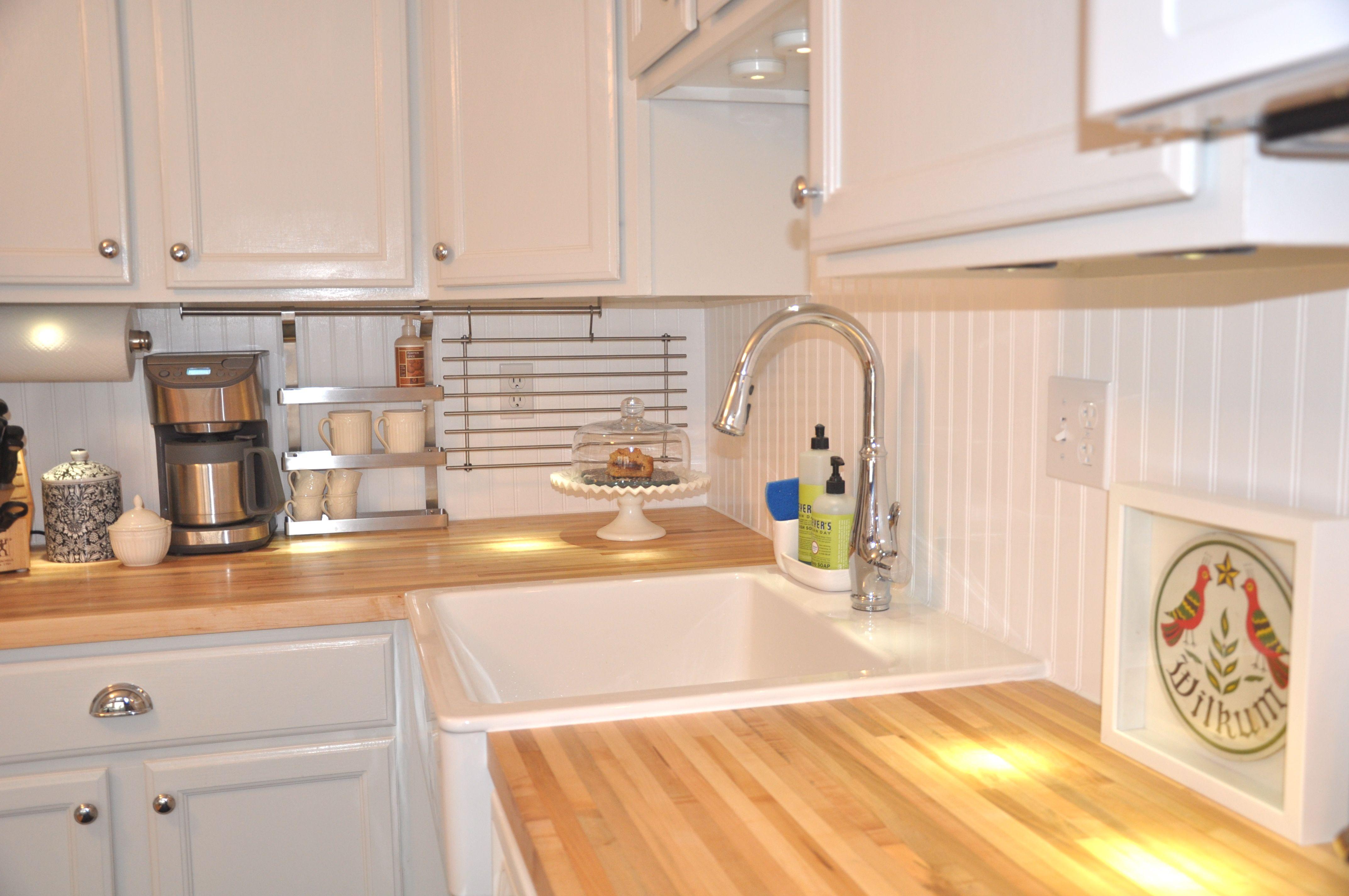 Domsjo Sink Butcher Block Beadboard Love Wooden Kitchen