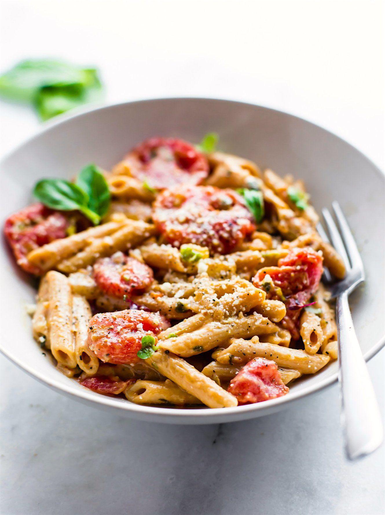 Creamy tomato gluten free pasta dairy free recipe