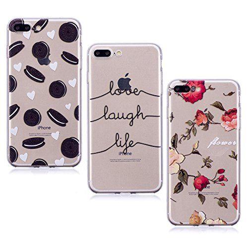 3X Coque iPhone 7 Plus 8 Plus Citation Fleur Coeur Beignet E ...